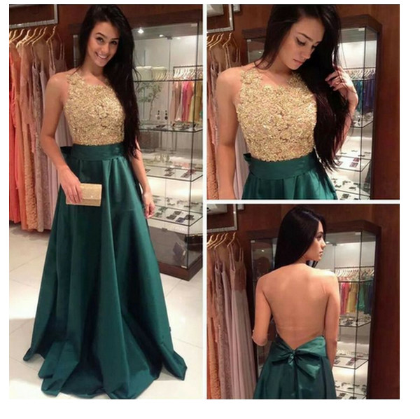 prom dress prom forest green