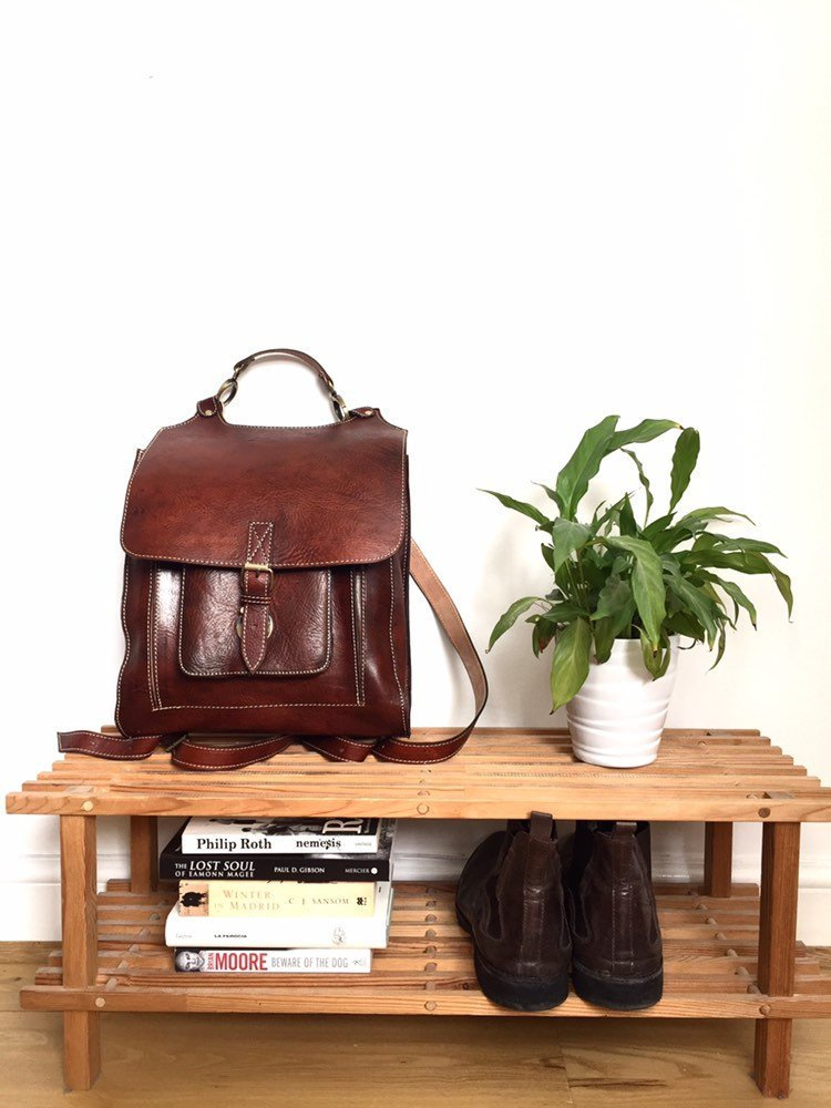 LEATHER BACKPACK, 14 x 12 inches, leather rucksack, leder rucksack, rucksack leather, Hipster Backpack, backpack leather, Leather bag