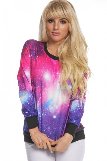 Pink galaxy sweatshirt