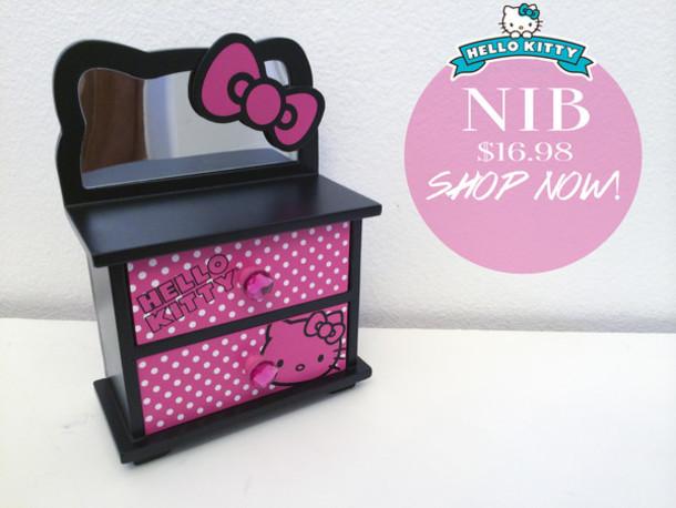 5e7a4fb10a make-up hello kitty japanese jewelry box make up box makeup bag mirror  drawer dorm