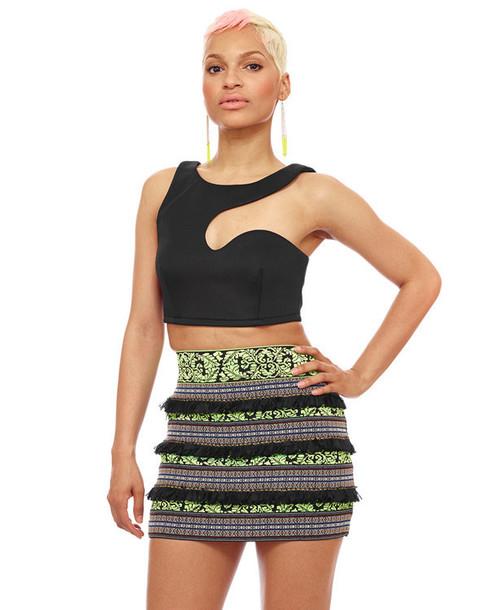 Black And Green Skirt 17