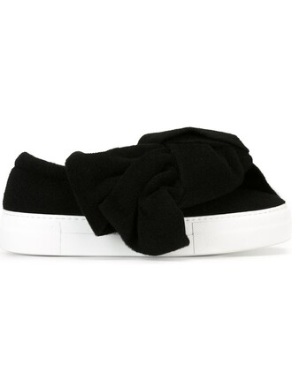 bow sneakers black shoes