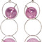 Marni silver and pink sphere earrings