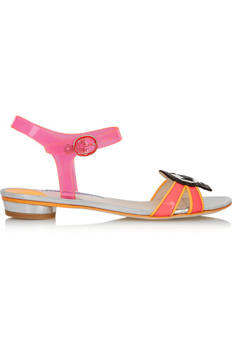vinyl sandals leather sandals leather pink shoes