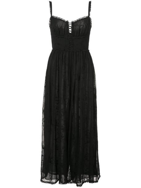 Zimmermann jumpsuit women black silk