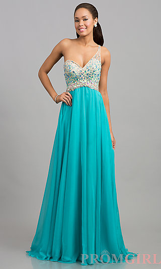 Blush Backless Beaded Open Back Prom Dress - PromGirl