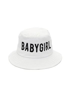 Babygirl white bucket hat
