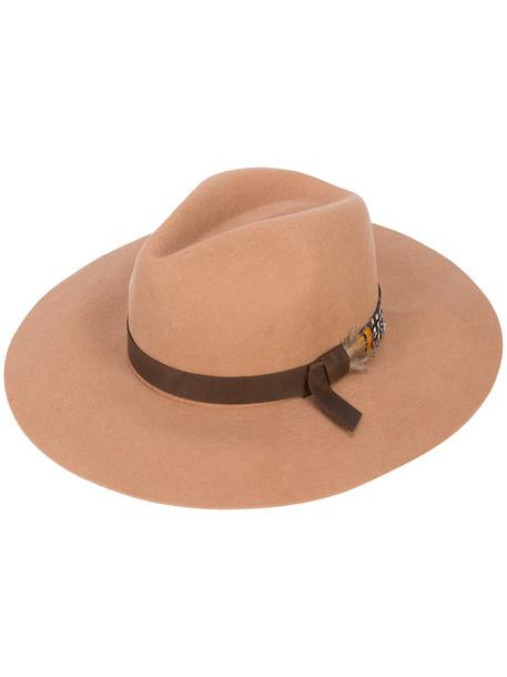 hat fedora brown