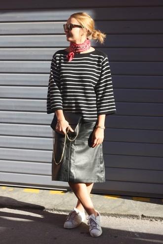 jane's sneak peak blogger button up skirt striped top