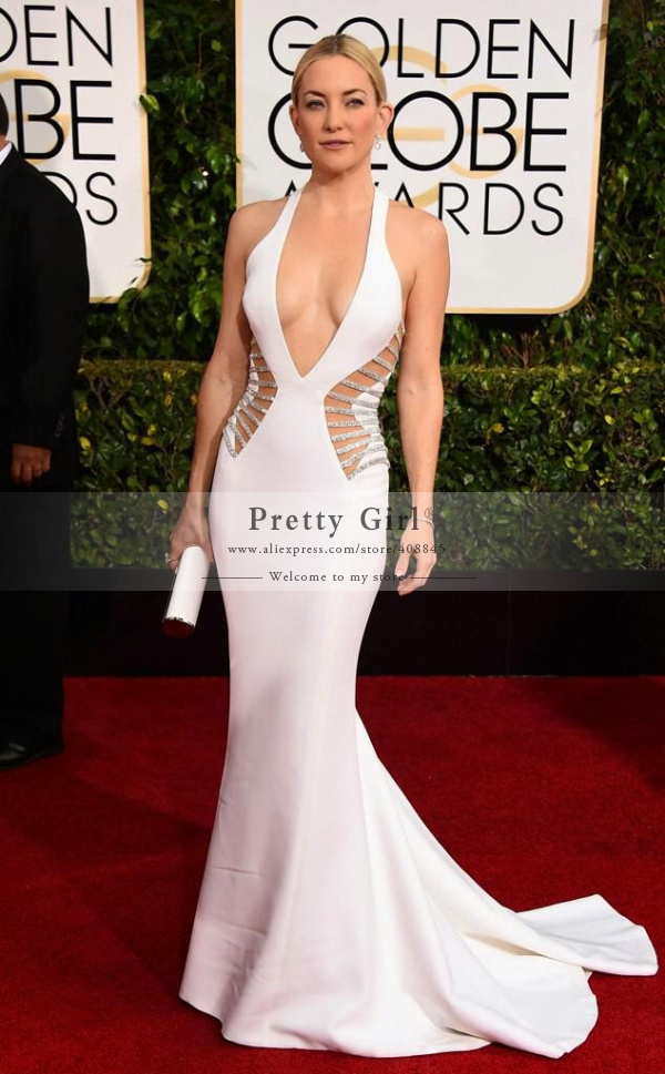 Aliexpress.com : buy kate hudson golden globes fashion 2015 white mermaid celebrity dress sexy v neck beading sequined long evening dress prom gowns from reliable gown sample suppliers on pretty girl trade co., ltd
