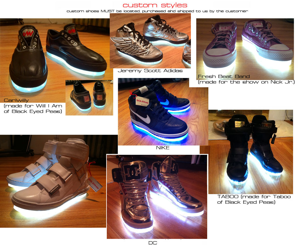 SOLElites - by designer A.J. Catalano - Light up shoes - Los Angeles - lighted shoes like never before!