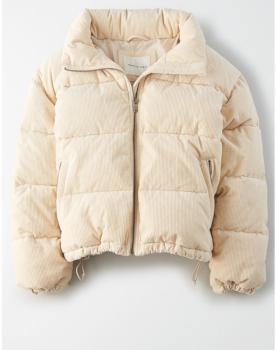 AEO  Corduroy Puffer Jacket
