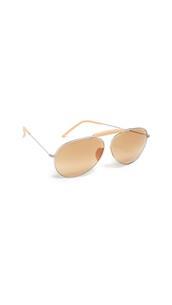 sunglasses,silver,satin,peach
