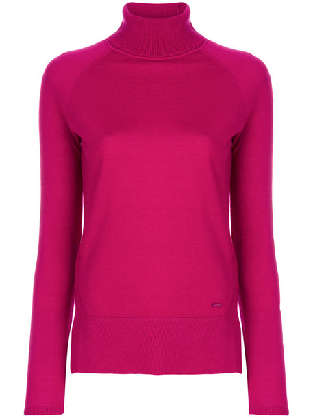 ARMANI JEANS jumper turtleneck women wool purple pink sweater