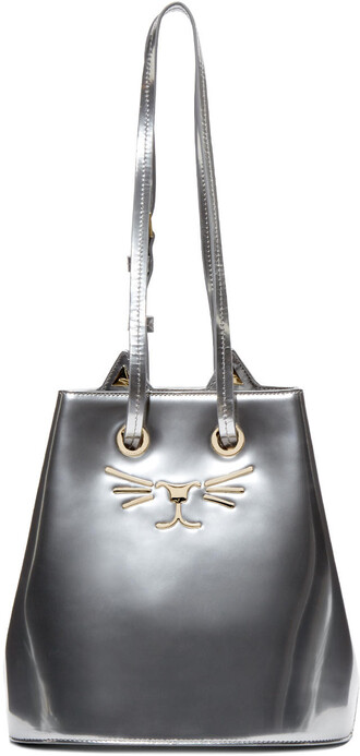 bag bucket bag silver