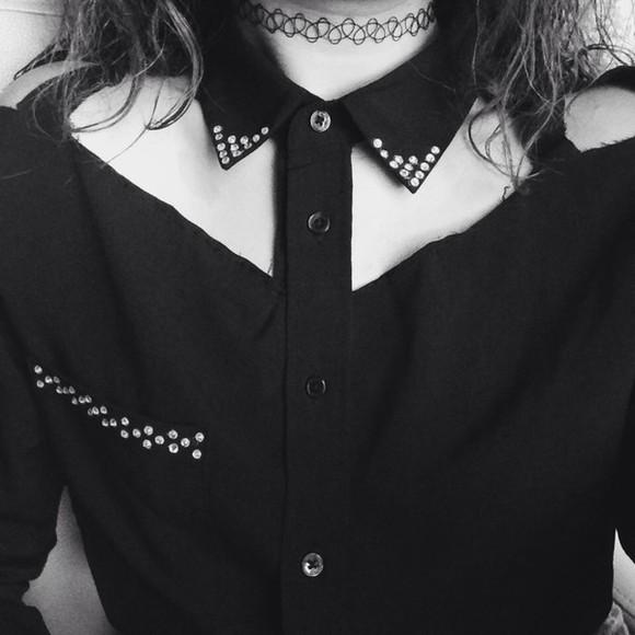 girly fashion lovely pepa blouse black t-shirt shirt black dresses