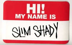 "Eminem ""HI MY Name IS"" Vintage Promo Only Sticker 1999 