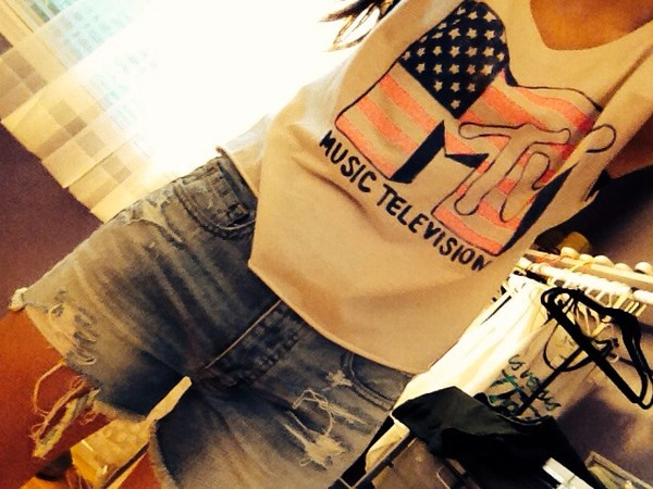 shirt mtv High waisted shorts