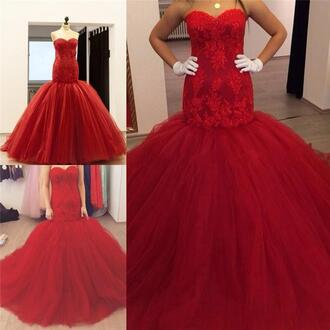 dress 2016 runway evening dresses real images red evening dresses vintage lace evening dresses mermaid lace evening dresses sexy evening dresses plus size formal party gowns tulle skirt wedding dresses