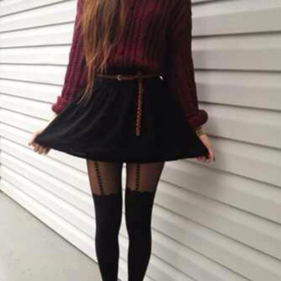 red sweater knitted sweater