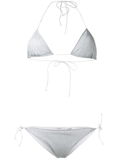 Oseree bikini women spandex grey swimwear