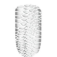 Silvery shiny snakeskin sleek stick nail art sticker