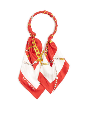 necklace silk red jewels