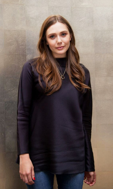 olsen sisters top jeans make-up jewels t-shirt blouse
