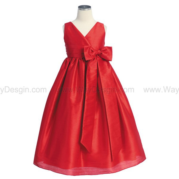 red flower girl dress red dress flower girl dress