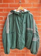 jacket,adidas,windbreaker,vintage,green jacket,tumblr,tumblr grunge,adidas retro,adidas vintage,grunge,soft grunge,retro,vintage jacket,adidas jacket,adidas originals,adidas varsity jacket,green