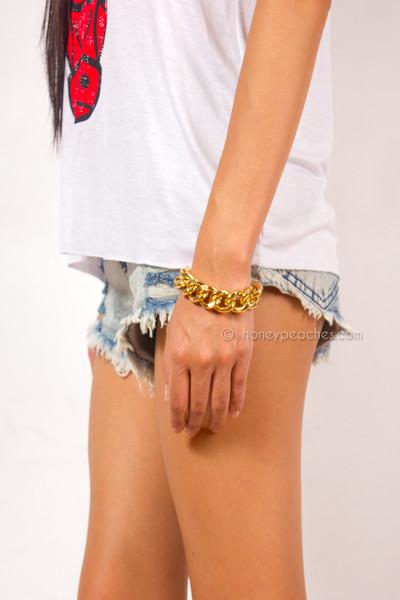 Joelle gold chain bracelet
