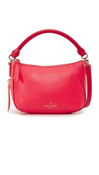 cross mini bag coral red