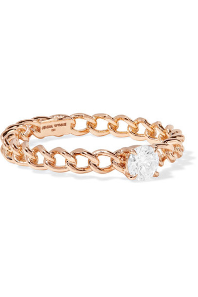 Jemma Wynne diamond ring rose gold rose ring gold jewels