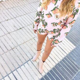 shorts yeah bunny peach peaches pastel summer sun