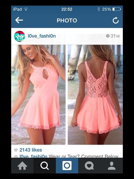 dress skater skirt pink dress