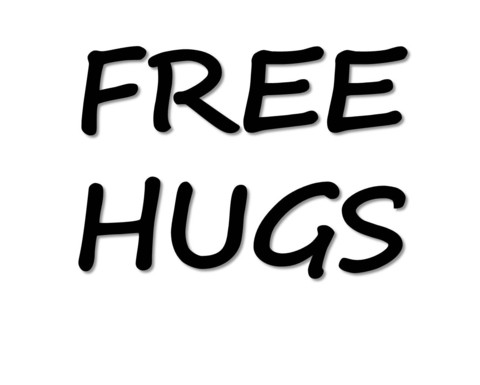 Free Hugs T Shirt | Cheap Funny T Shirts ~  Pop Culture T Shirts ~ Baby Onesies ~ Xray Skeleton Baby Tops ~ Funny Maternity Tops