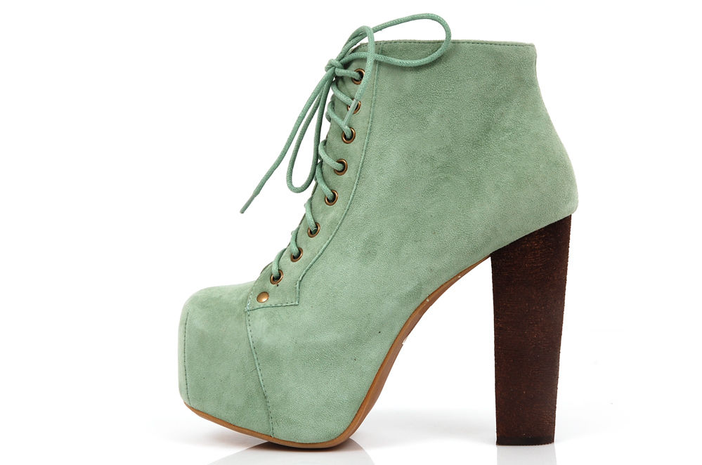 Jeffrey Campbell Classic Lita Suede Leather - Mint - 12.5cm Heel