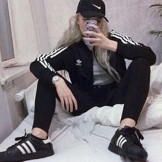 jacket cute grunge indie adidas adidas superstars pretty love fashion hipster phone cover