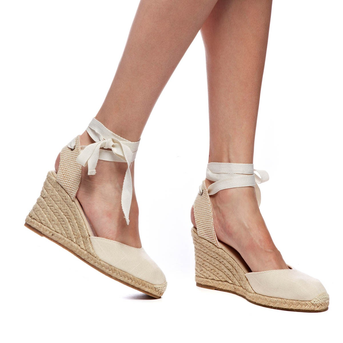 e5de1944575 Tall Wedge Sandal - Linen Blush Espadrilles for Women from Soludos -  Soludos Espadrilles