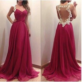 dress pink dress fushia dress ivory gorgeous gorgeous prom dress prom dress long prom dress long dress floor length dress ball dress brunette tanned elegant dress beautiful