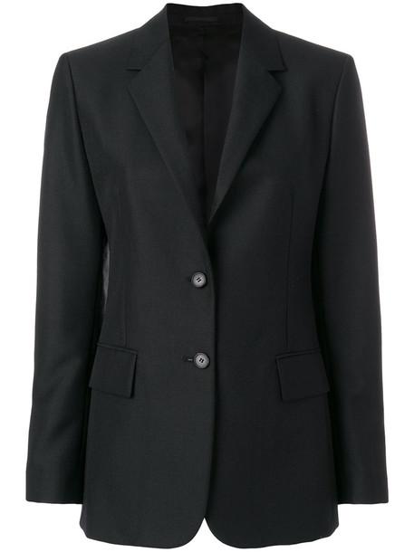 CALVIN KLEIN 205W39NYC blazer women mohair black wool satin jacket