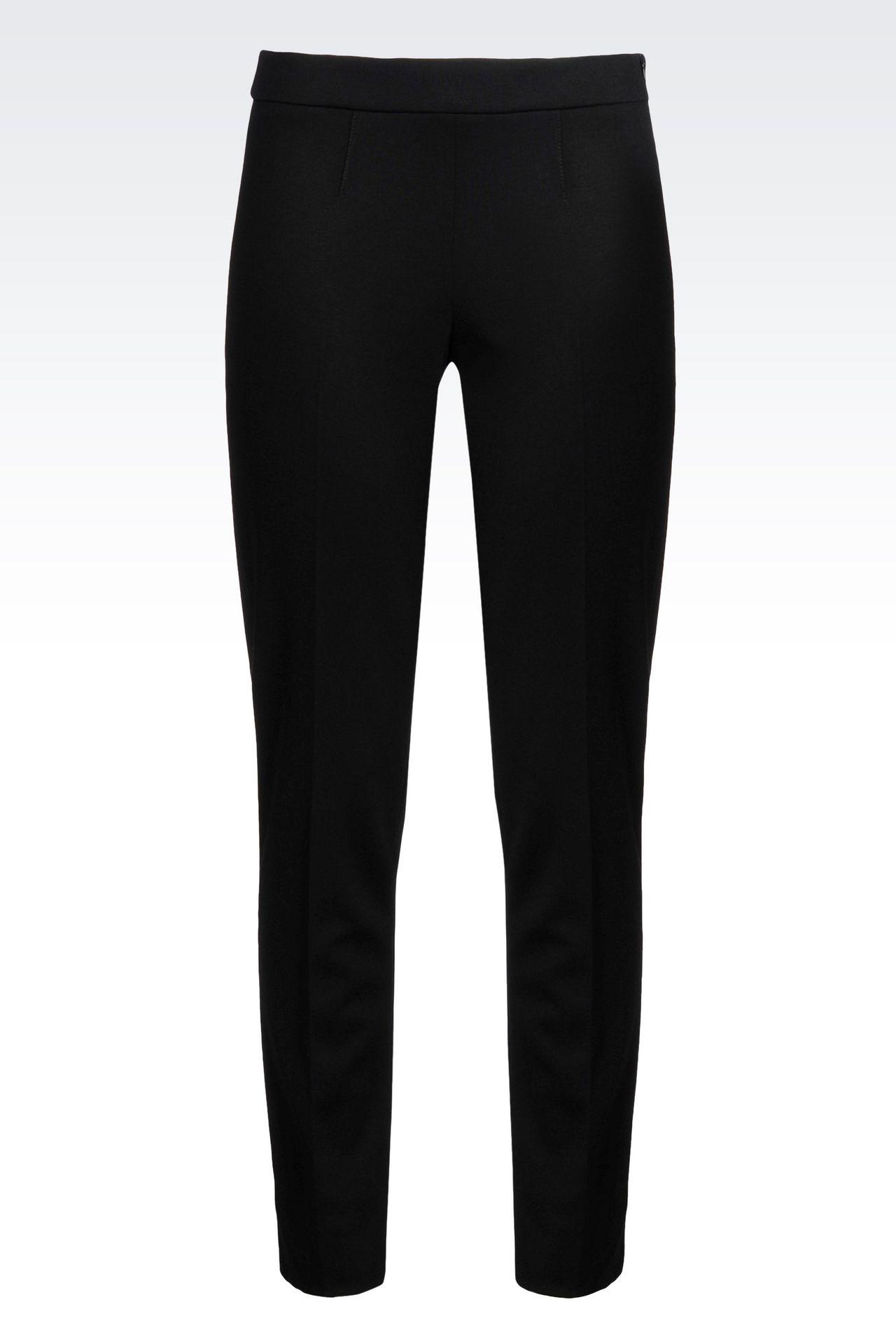 Emporio Armani Women Straight Leg Pant - CIGARETTE TROUSERS IN VISCOSE Emporio Armani Official Online Store