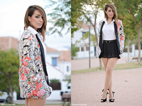 jacket floral print blazer floral persunmall