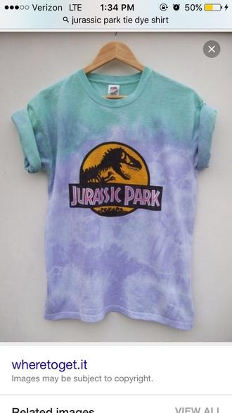 shirt tie dye tie dye shirt jurassic park