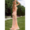 Fashion scoop neck sleeveless lace backless evening dress for women_24.79