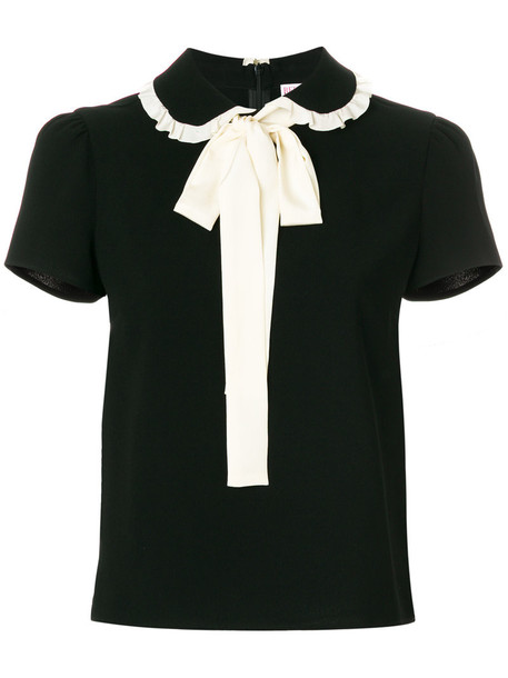 RED VALENTINO blouse short women black top