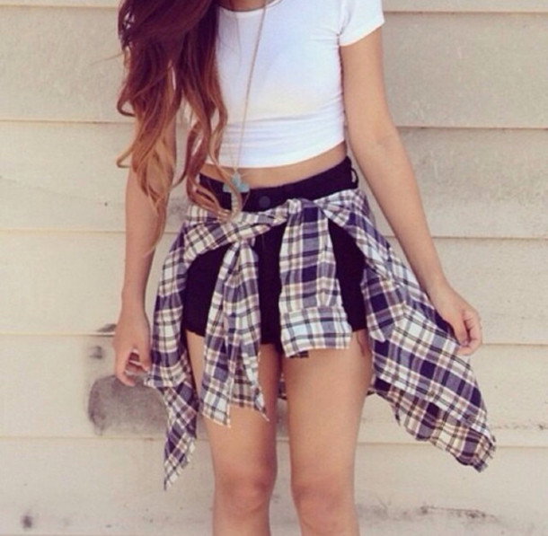 T-shirt: crop tops, white crop tops, blouse, high waisted black ...