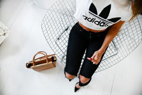 Девушка адидас модные