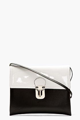 Marni Edition Black & White Eco-leather Shoulder Bag for women | SSENSE