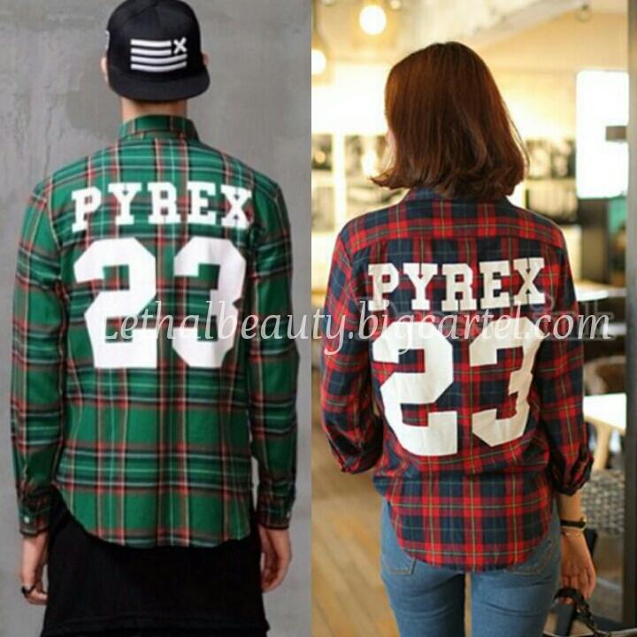 Lethalbeauty ? unisex pyrex 23 flannel shirt